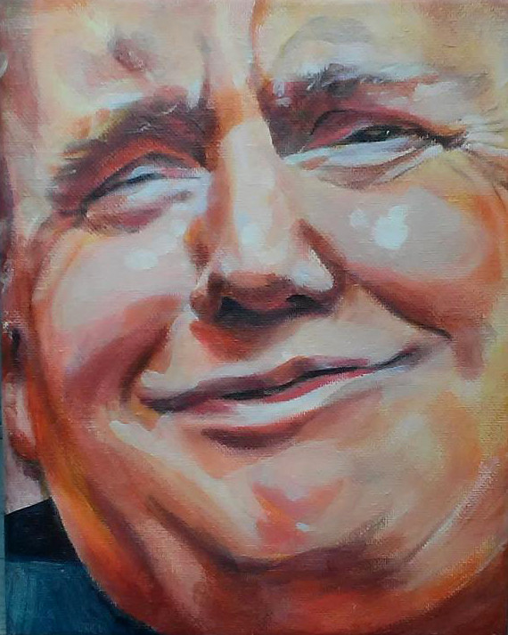 trump's smug face
