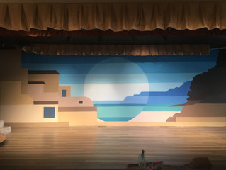 Evolution of Mamma Mia backdrop
