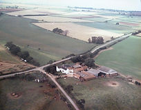 White Lodge aerial view c. 1970s