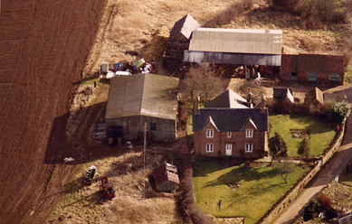 An aerial view of Manor Farm c. 1970s