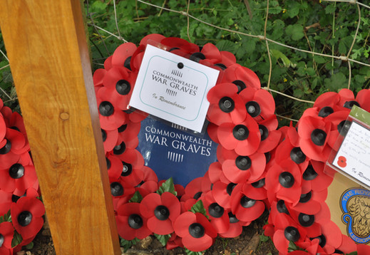 Wreath laid by Megan Kelleher on behalf of The Commonwealth War Graves Commission