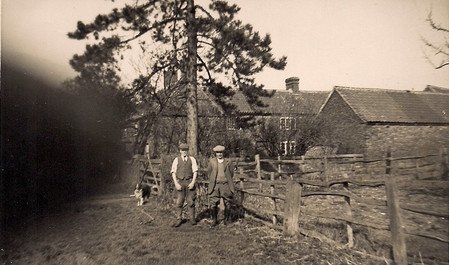 Fred Pizer (left) at Green Lodge c. 1940s