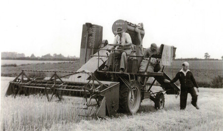 John Holmes harvesting at Manor Farm