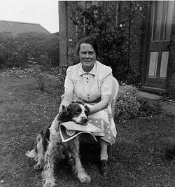 Hilda Holmes with Rex the dog