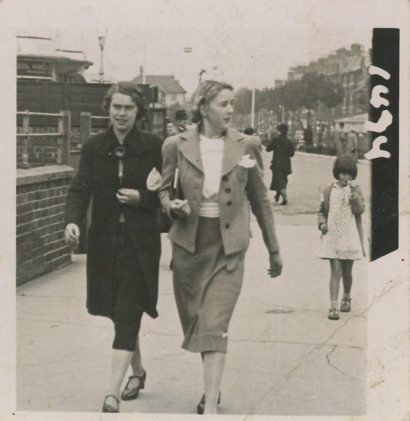 Nancy with Stan's sister Hazel Needham