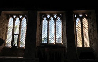 The three ogee arched lights in the south wall of the chancel