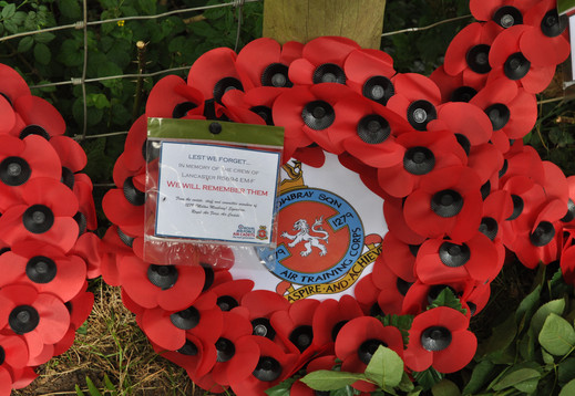 Wreath laid by Fg Off Jeremy McHale on behalf of 1279 (Melton Mowbray) Sqn Air Training Corp