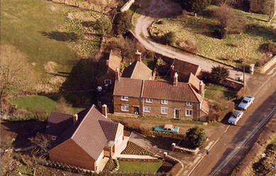 An aerial view of Gorse View & Manor Cottages c. 1970s