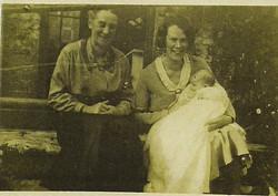 Baby Cathy with Cath & Hilda Holmes