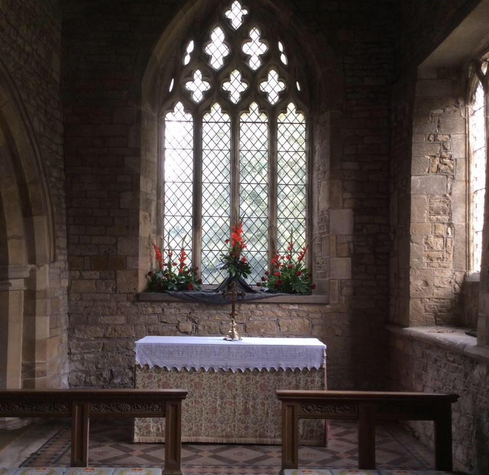 The alter and east window