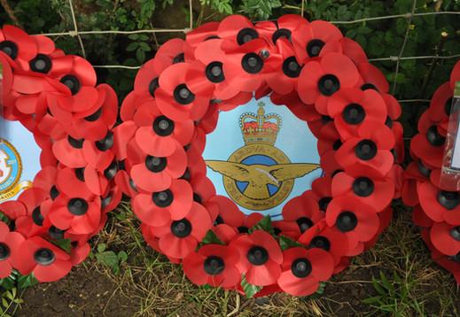 Wreath laid by WO Richard 'Pebs' Perberdy RAF Halton