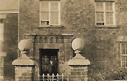 Tony Casey outside The Manor, 1940s