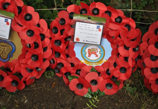 Wreath laid by Wg Cdr Scott Williams on behalf of 207 Squadron RAF