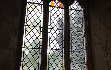Traceried window in the south aisle