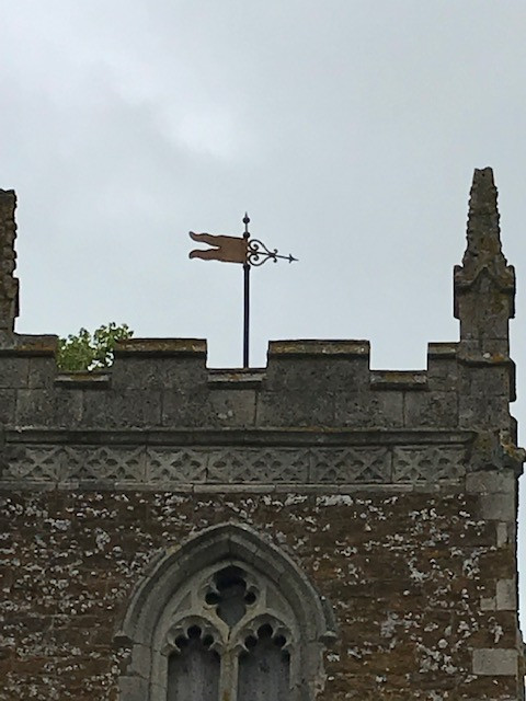 18th Century weather vane on the tower