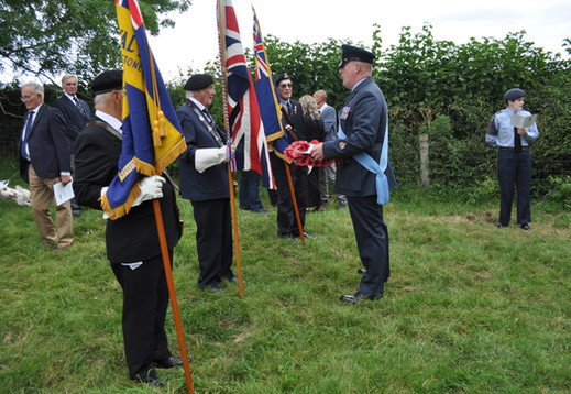 WO 'Pebs' Peberdy briefs the Royal British Legion Standard Bearers