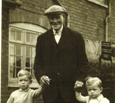Fred Talkes with his grandsons, Ian and Colin