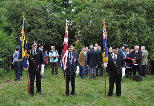 Standard Bearers from Hose & Harby and Granby & Barnstone Branches of The Royal British Legion