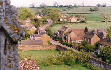 Main Street from the church tower, c. 1990s