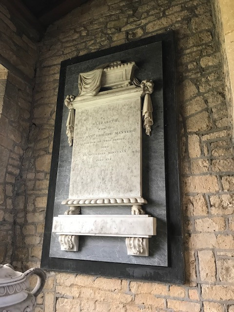 Memorial to Elizabeth Manners
