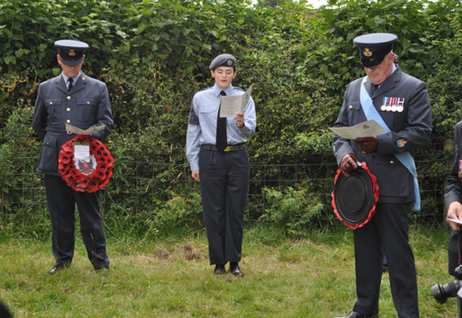 Cadet Corporal Foster reads the poem, 'For Johnny', by John Sleigh Pudney