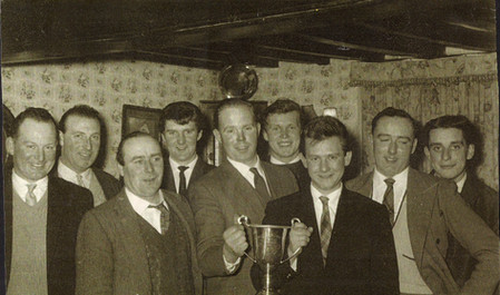 1963 Tug of War Team with Royal Air Force Challange Cup