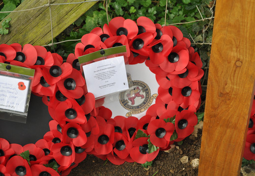 Wreath laid by Kevin Mapley on behalf of Friends of RAF Spilsby