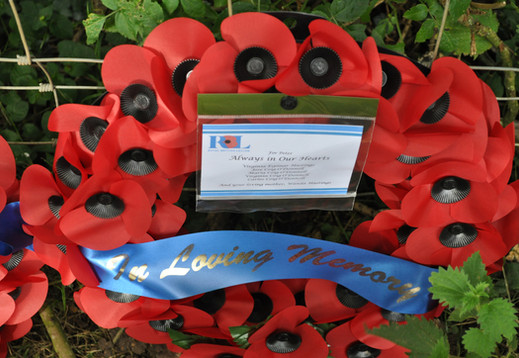 Wreath laid on behalf of the family of Flight Engineer, Peter Thompson