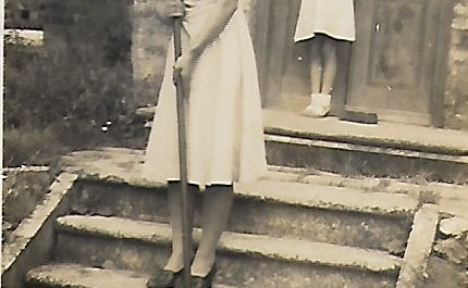 Lucy Casey's sisters, Doris (left) and Edith, at The Manor, 1940s