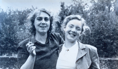 Dorothy (right) and Beatrice Riley c. late 1940s.