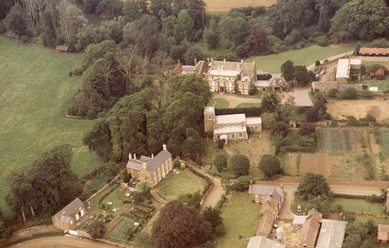 An aerial view of the west end of the village, c. 1970s