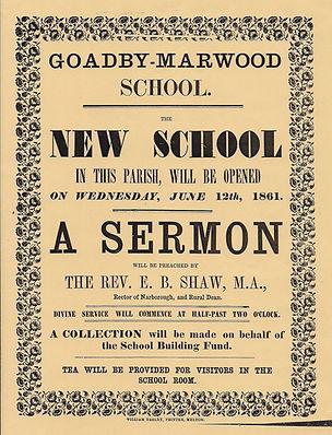 Goadby School opening poster 1861.jpg