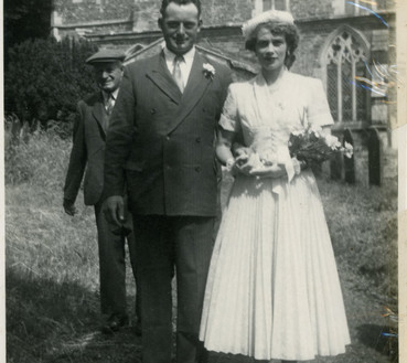 Stan and Nancy on their wedding day