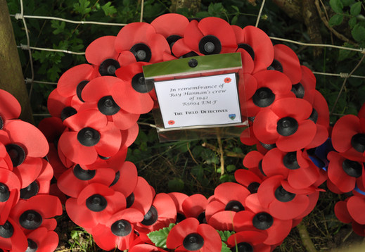 Wreath laid by Richard Pincott on behalf of The Field Detectives