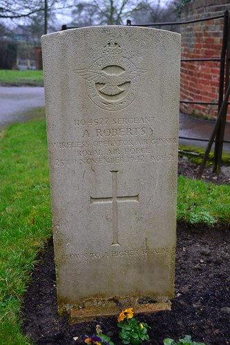 Albert Roberts grave marker.jpg