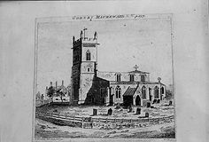 St. Denys' Church, an etching from1791