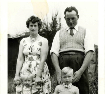 Stan & Nancy with sons Colin & Ian in 1959