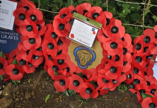 Wreath laid on behalf of Hose & Harby Branch of The Royal British Legion