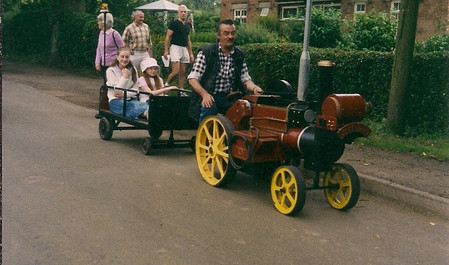 Children's train outside Hillfoot Cottages c. 2000.