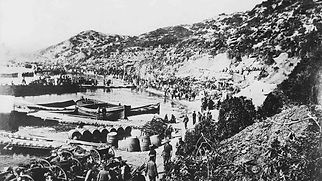 Australian and NZ troops at Anzac Cove A