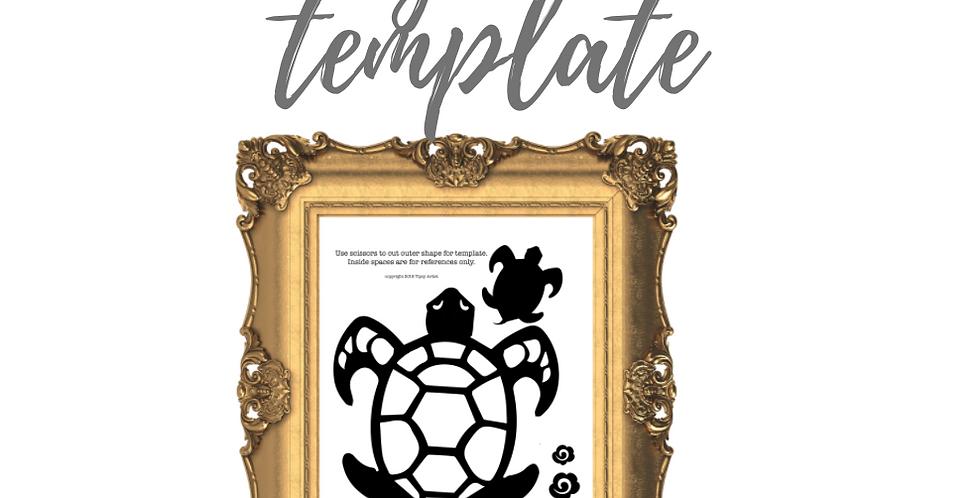 Sea Turtle Digital Template Pack