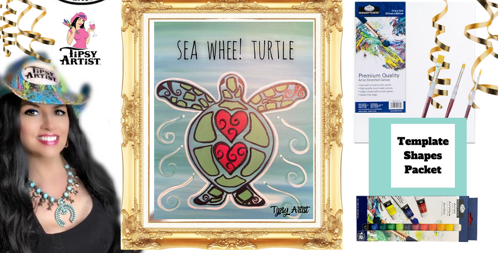 Sea Whee! Turtle ~ Painting Party Pack
