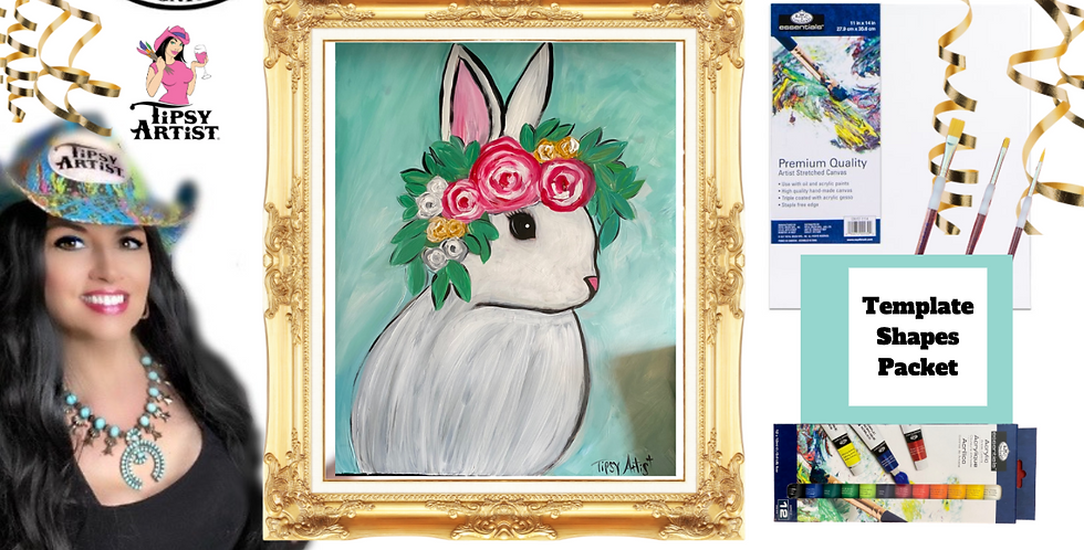 Boho Bunny ~ Painting Party Pack