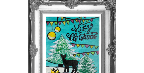 Merry Christmas Deer Traceable Pack with Graphite Paper