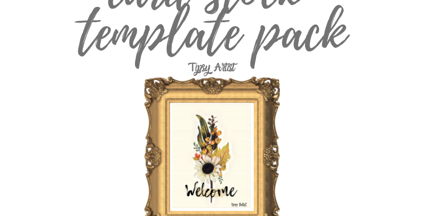 Welcome Flowers Cardstock Tracing Template Pack with Online Video
