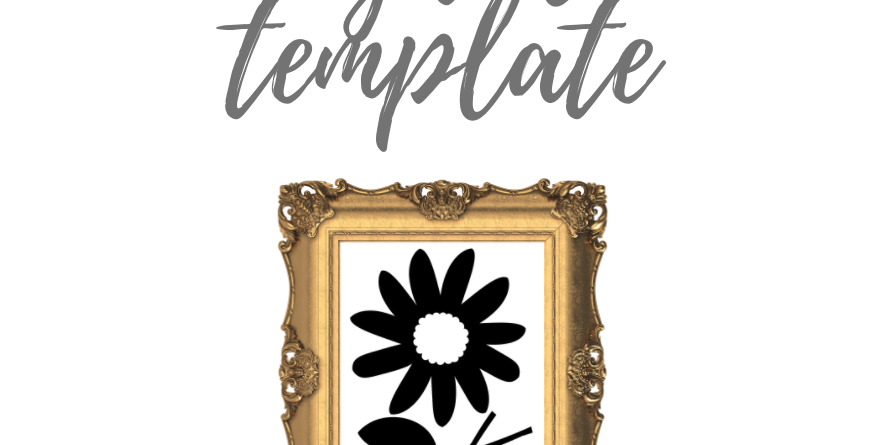 Flower Template with stem and leaf shape