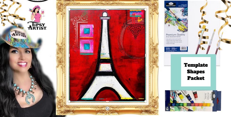 Eiffel Tower Modern ~ Painting Party Pack