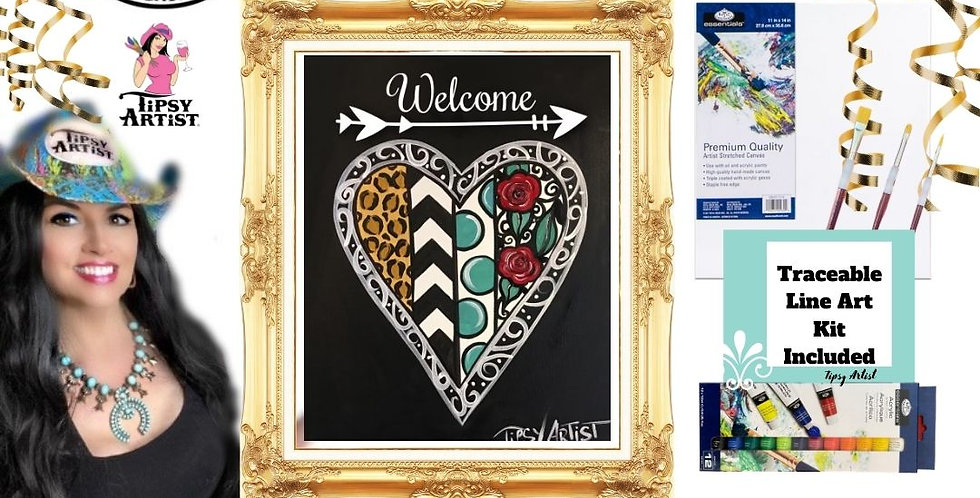 Welcome Heart ~ Painting Kit
