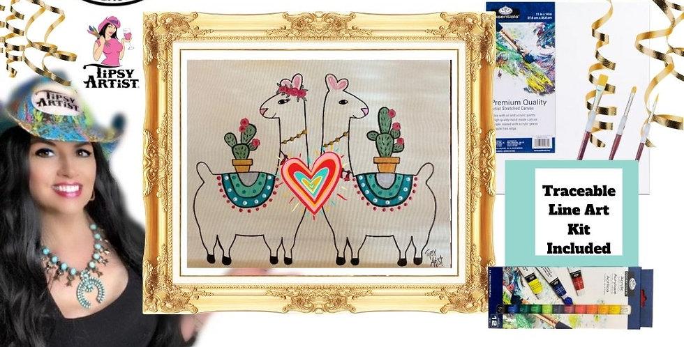 Love Llamas ~ Painting Kit