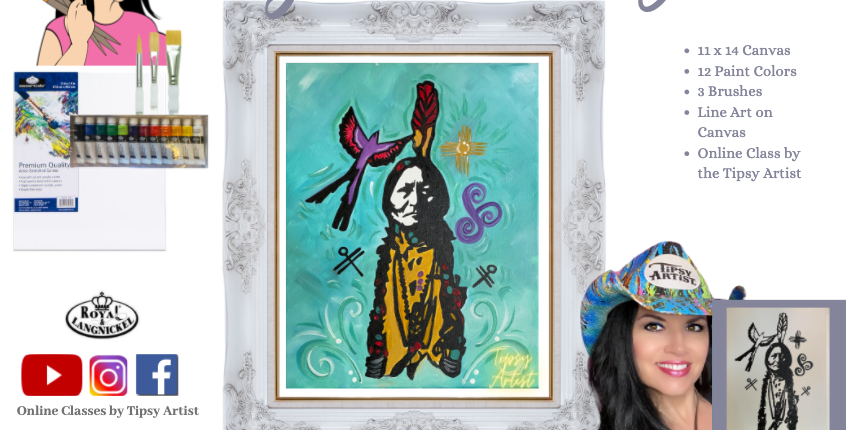 Sitting Bull DIY Canvas Painting Party Pack